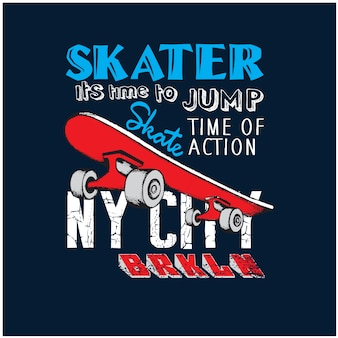 Patineurs de la ville de new york vector illustration