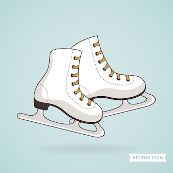 Patins à glace. illustration.