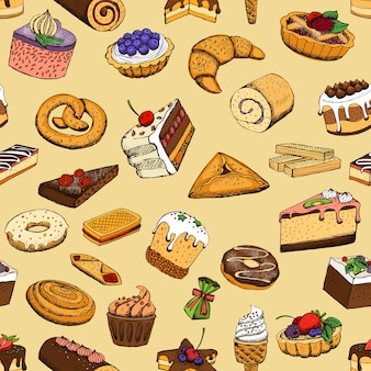Pâtisseries sucrées sans soudure