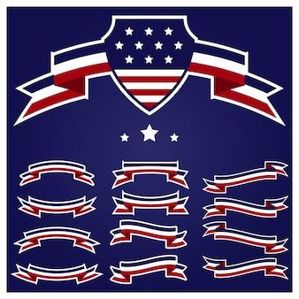 Patriot 4 juillet ruban ensemble