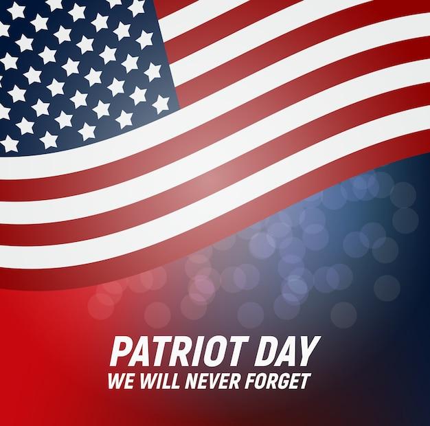Patriot day. nous n'oublierons jamais l'affiche