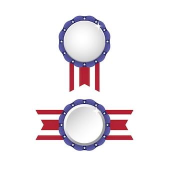 Patriot états-unis amérique flag badge ruban ensemble