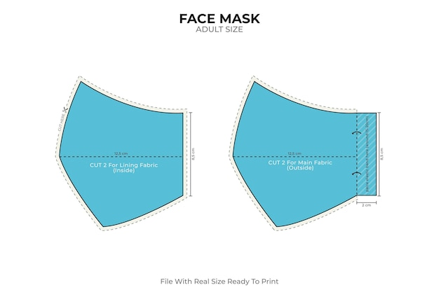 Patron de couture masque bleu