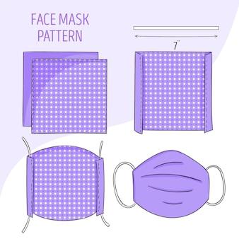 Patron de couture de masque facial