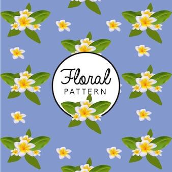 Patrón de flores vintage