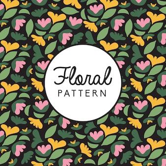 Patrón fondo floral vintage