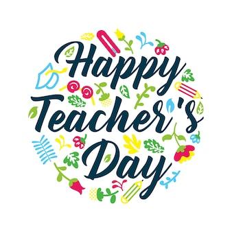 Patron de salutation de la journée mondiale des enseignants