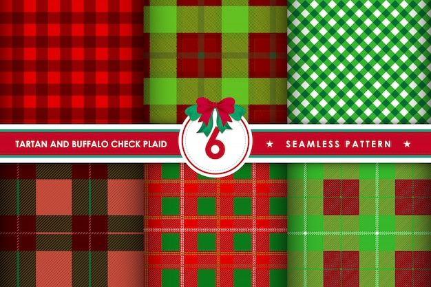 Patrons sans couture tartan check plaid