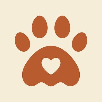 Patte de conception de logo pour animaux de compagnie, vecteur pour animalerie