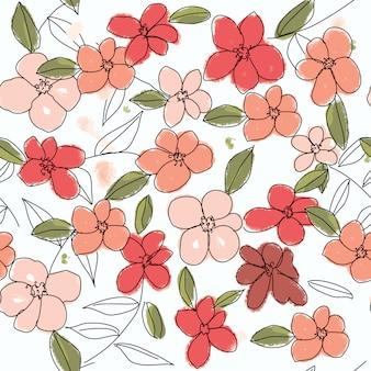 Pattern sans soudure de fleurs colorées