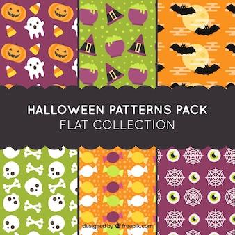 Patterns pour halloween heureux