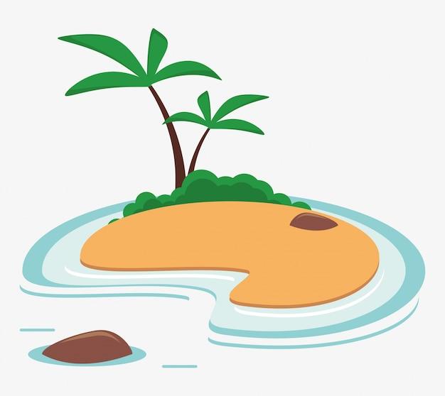 Paume de la mer des caraïbes vacances île