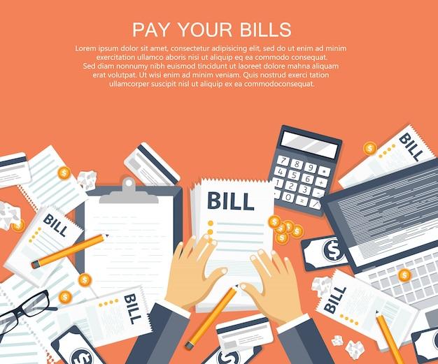 Payer le concept de factures