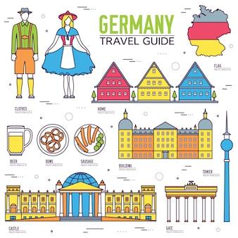 Pays allemagne voyage guide de vacances de marchandises