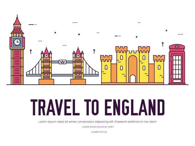 Pays angleterre guide de vacances de voyage de marchandises