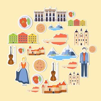 Pays autriche voyage guide de vacances de marchandises