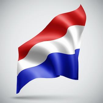 Pays-bas, vecteur 3d flag isolé sur fond blanc