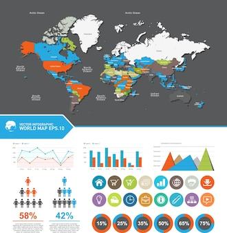 Pays de la carte mondiale