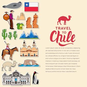 Pays chili guide de vacances de voyage des marchandises, des lieux.