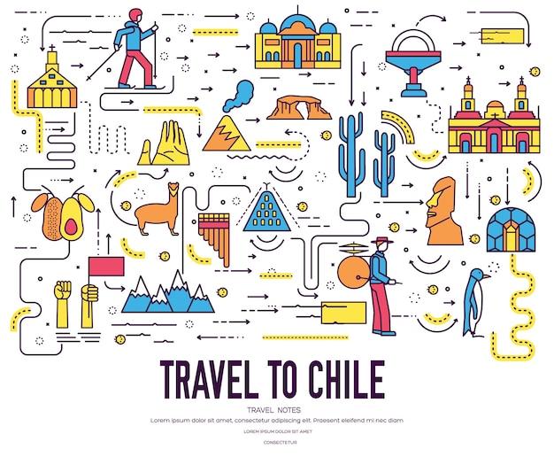 Pays chili guide de vacances de voyage de marchandises