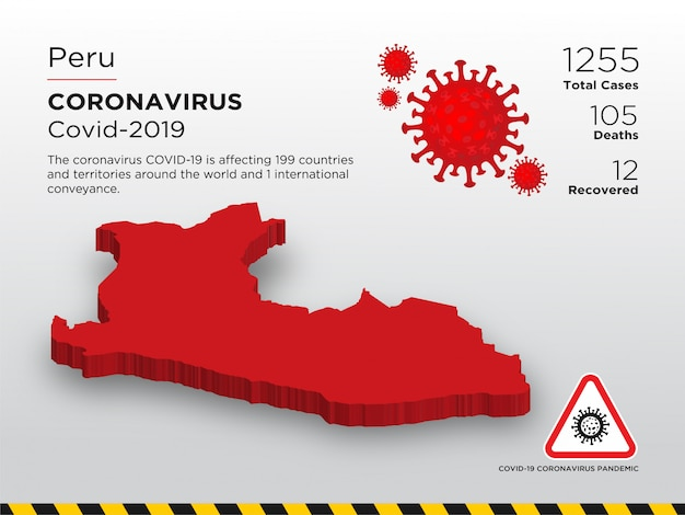 Pays concerné par le modèle de conception de la maladie du coronavirus