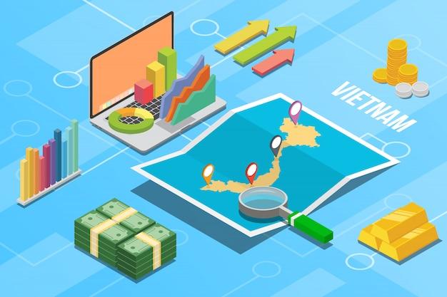Pays en croissance de l'économie commerciale du vietnam