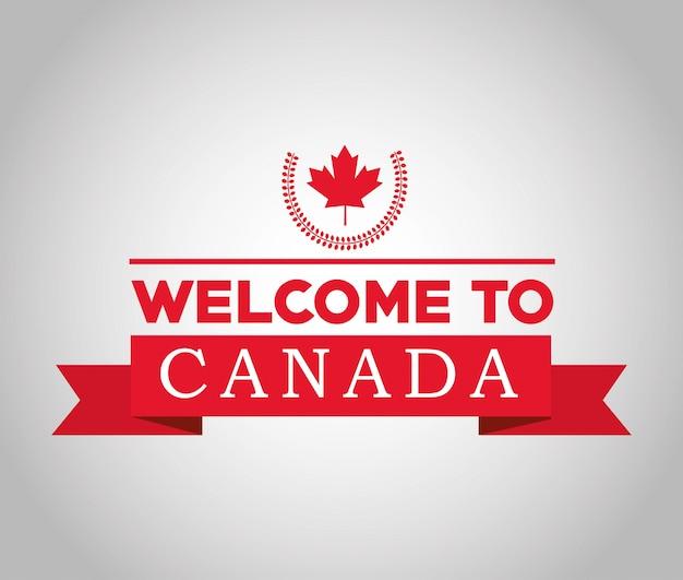 Pays du canada représenté par son drapeau de feuille d'érable