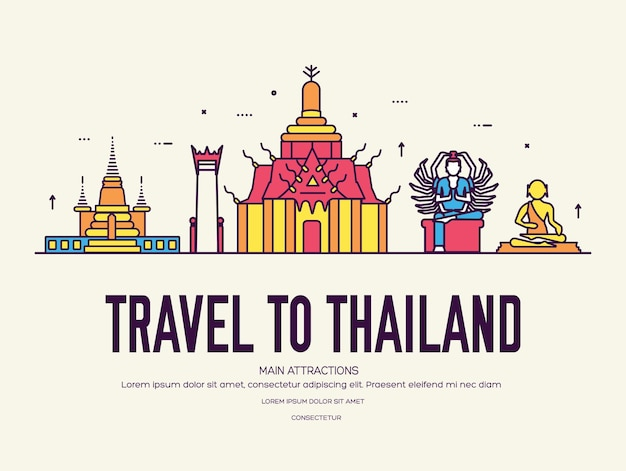 Pays thaïlande voyage vacances de lieu et fonctionnalité