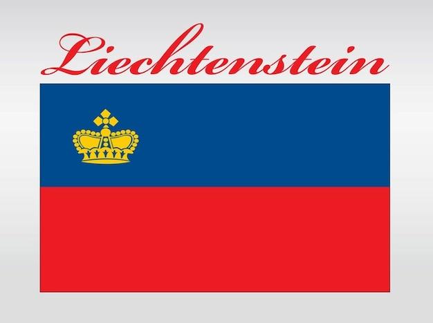 Pays touristique drapeau liechtenstein