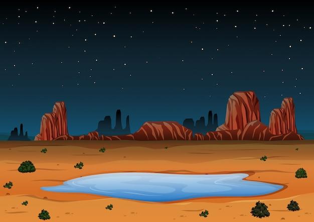 Paysage de l'arizona pendant la nuit