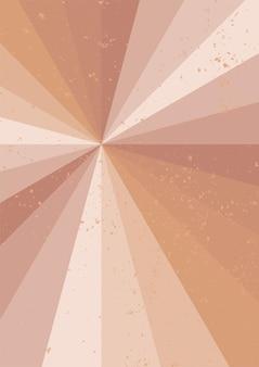 Paysage d'art mural géométrique minimaliste de rayons de soleil pour l'impression de mur de décoration intérieure d'intérieur esthétique boho