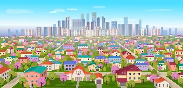 Paysage de banlieue