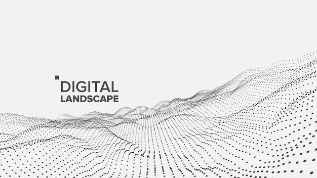Paysage blanc numérique