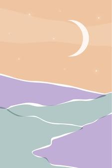 Paysage boho minimaliste