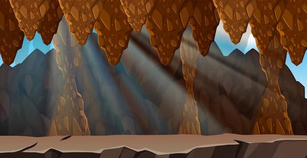 Un paysage de caverne mystérieux