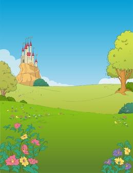 Paysage de château ou de palais
