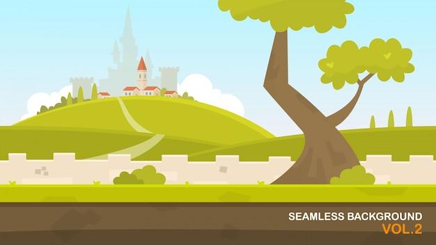 Paysage avec château
