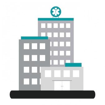 Paysage de construction d'hôpital