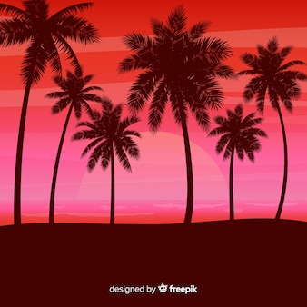 Paysage de coucher de soleil de plage réaliste