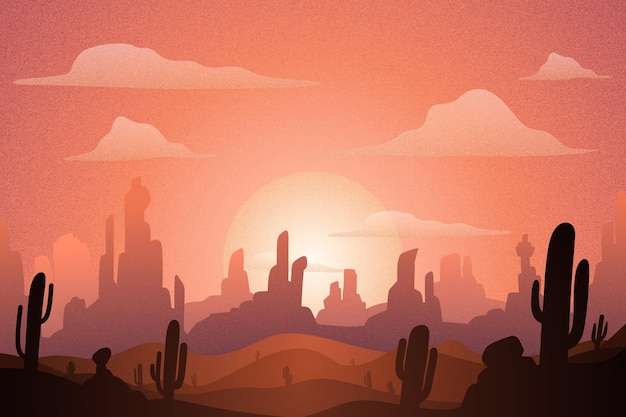 Paysage désertique - arrière-plan pour la vidéoconférence