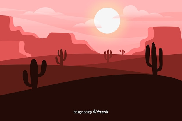 Paysage désertique dans les tons roses