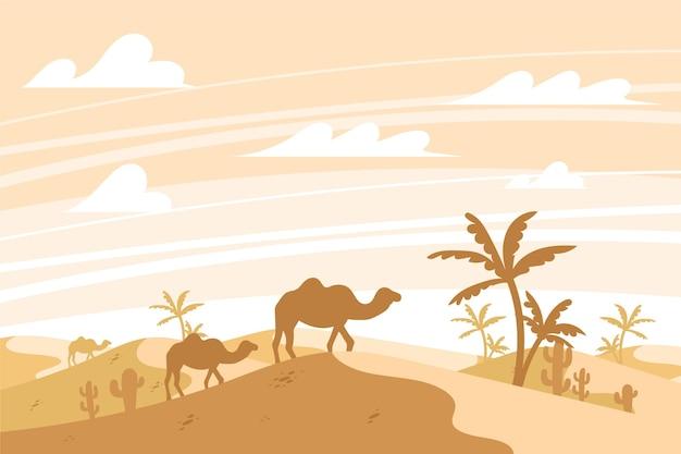 Paysage désertique pour la visioconférence