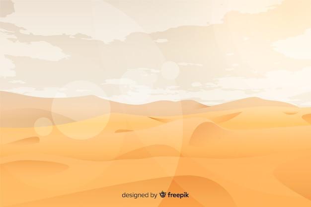 Paysage désertique avec sable doré