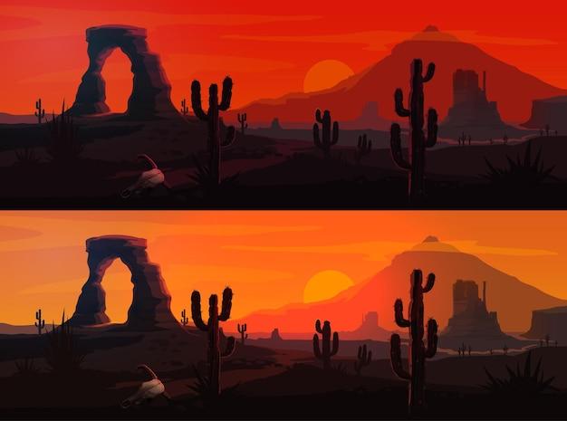 Paysage désertique des usa