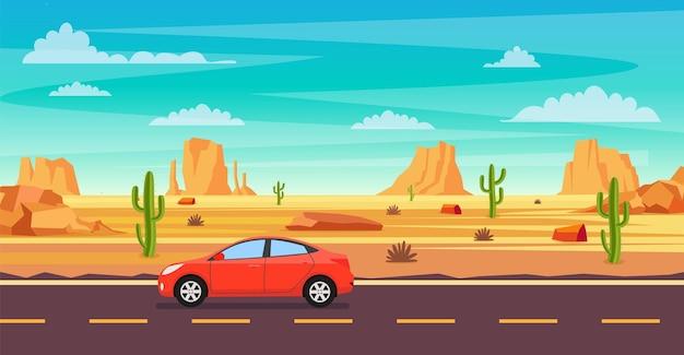Paysage désertique.