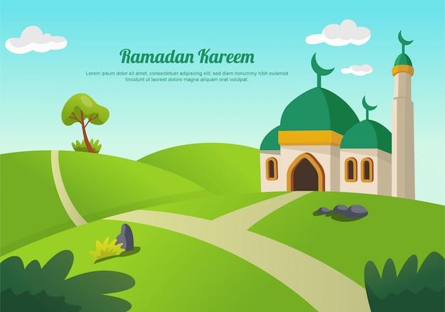 Paysage du ramadan kareem