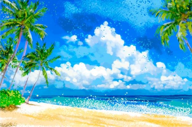 Paysage d'été pour zoom