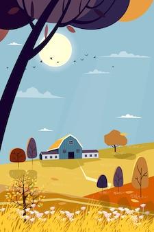 Paysage de ferme en campagne