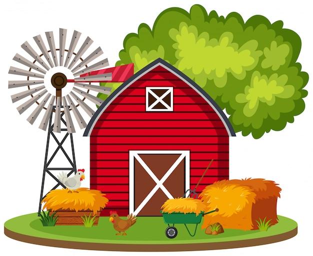 Paysage de ferme rurale isolée