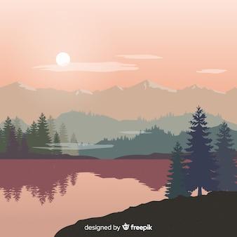 Paysage de fond des montagnes